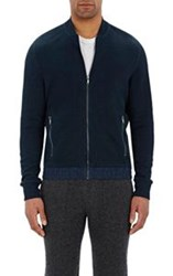 Michael Kors Zip Front Cardigan Blue