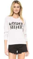 Spiritual Gangster Wonder Seeker Burnout Shrunken Sweatshirt Blush