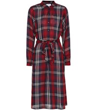 Velvet Tilda Plaid Midi Dress Multicoloured