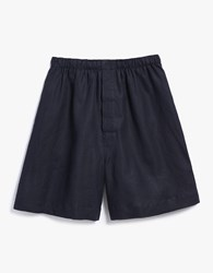 Margaret Howell Oversize Boxer Shorts In Charcoal