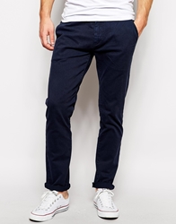 Solid Solid Skinny Fit Chino Navy