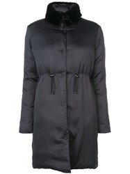 Giambattista Valli Detachable Collar Coat Black