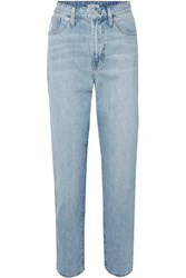 Madewell The Curvy Perfect Vintage High Rise Straight Leg Jeans Light Denim