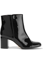 Schutz Patent Leather Ankle Boots Black