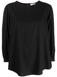 Rodebjer Curved Loose Top Black