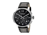 Coach Bleecker Chrono Leather Black Sandblast Black Watches