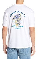 Tommy Bahama Men's Big And Tall Birds Eye View Classic Fit T Shirt White