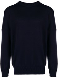 Paul And Shark Ribbed Detailed Jumper Blue