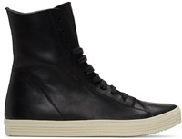 Rick Owens Black Mastodon High Top Sneakers