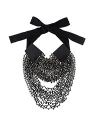 Ann Demeulemeester Layered Beads Long Necklace Polyester