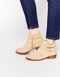 Call It Spring Yenalian Double Strap Western Ankle Boot Stone
