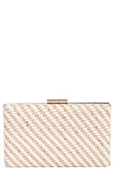 Nordstrom Woven Cork And Faux Leather Clutch White