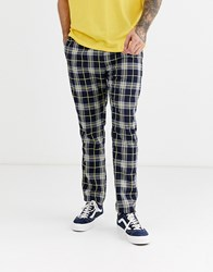 Brooklyn Supply Co. Co Trousers In Navy Check