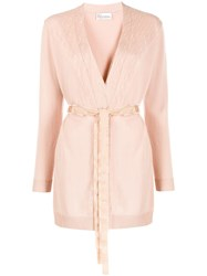 Red Valentino Tulle Panel Belted Cardigan 60