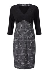 James Lakeland Print Lace Dress Black