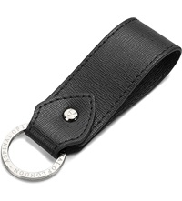Aspinal Of London Leather Loop Keyring Black