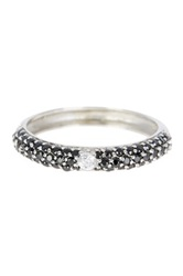 Savvy Cie Rock Stars Simulated Black And White Diamonds Stackable Ring