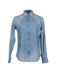 Denham Jeans Denham Denim Shirts Blue