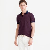 J.Crew Textured Cotton Polo Shirt In Navy Stripe