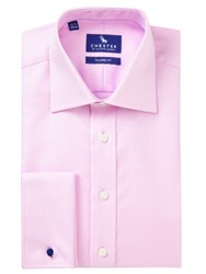 Chester Barrie By Jacqurd Tailored Fit Shirt Pink