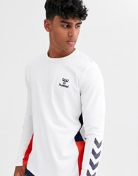 Hummel North Long Sleeved T Shirt White