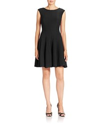 Gabby Skye Pleated Fit And Flare Dress Black