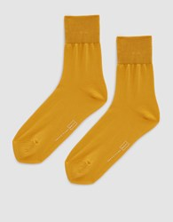 Hansel From Basel Trouser Crew Sock In Marigold