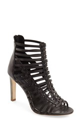 Women's Elie Tahari 'Huarez' Cage Sandal Black Leather
