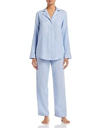 Ralph Lauren Fashion Wovens Notch Collar Pajama Set Blue Stripe