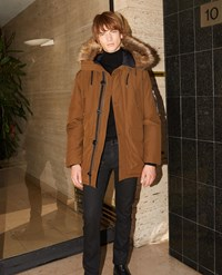 The Kooples Camel Parka With Faux Fur Hood