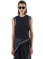 Preen Kyler Sleeveless Tank Top Black