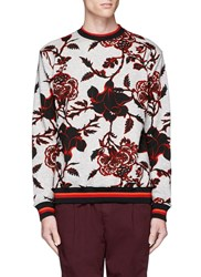 Mcq By Alexander Mcqueen Floral Print Cotton French Terry Sweatshirt Multi Colour