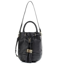 See By Chloa Vicki Large Leather Bucket Bag Black