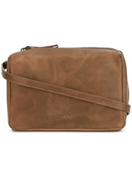 Marsell Hand Strap Crossbody Bag Brown