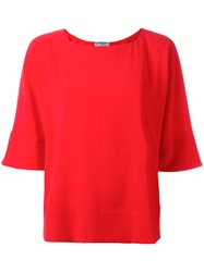 Alberto Biani Half Sleeve Top Red