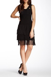 Gracia Bandage Fringe Hem Dress Black