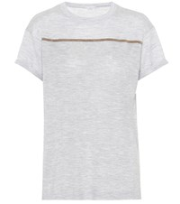 Brunello Cucinelli Cashmere And Silk T Shirt Grey