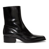 Y Project Black Fitted Ankle Boots