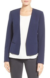 Halogenr Petite Women's Halogen Open Front Jacket Navy Peacoat