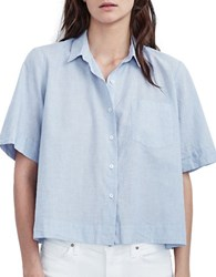 Velvet By Graham And Spencer Relaxed Fit Casual Cotton Shirt Chambray