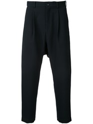 En Route Cropped Straight Trousers Men Polyester 2 Blue