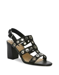 Tahari Advice Leather Sandals Black