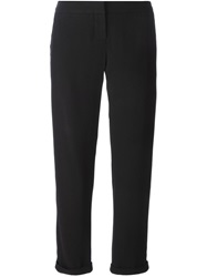 Balmain Satin Stripe Trousers Black