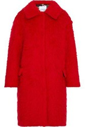 Ainea Woman Brushed Wool Blend Coat Red