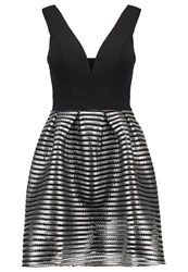 Wal G G. Cocktail Dress Party Dress Black Silver