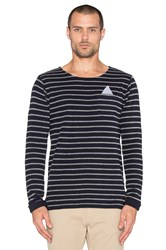 Scotch And Soda Fixed Pocket Longsleeve Crewneck Tee Navy