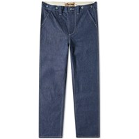 Nigel Cabourn X Lybro Japanese Denim Military Pant Blue