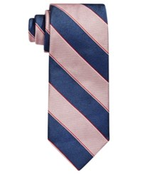 Brooks Brothers Rugby Stripe Tie Pink