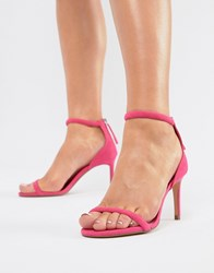 Bershka Barely There Sandal In Pink