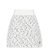 Moncler Gamme Rouge Russell Wool Blend Tweed Skirt White